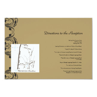 Navy and Gold Masquerade Wedding Directions Personalized Invitations