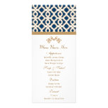 Navy and Gold Moroccan Menu Full Color Rack Card