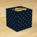 Navy And Gold Polka Dot Party Favor Boxes