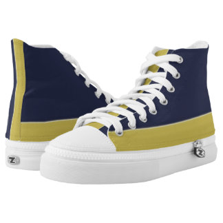 Navy and Gold Two-Tone Hi-Top