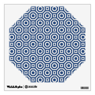 Navy and Gray Nested Octagon Wall Decal