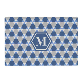Navy and Gray Triangle-Hex Placemat