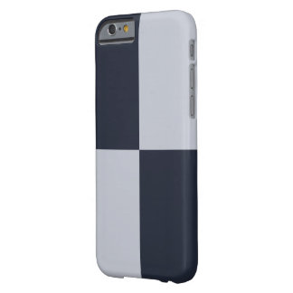 Navy and Grey Rectangles Barely There iPhone 6 Case