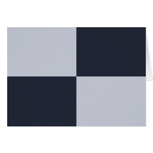 Navy and Grey Rectangles Card