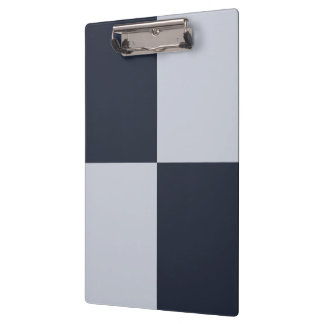 Navy and Grey Rectangles Clipboard