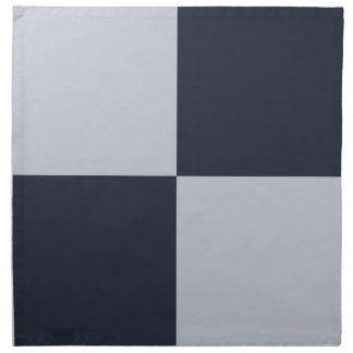 Navy and Grey Rectangles Cloth Napkin