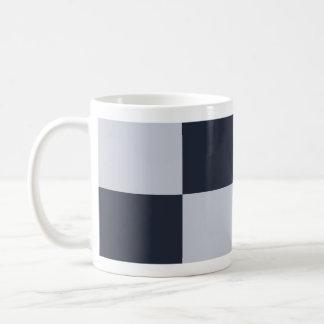 Navy and Grey Rectangles Coffee Mug