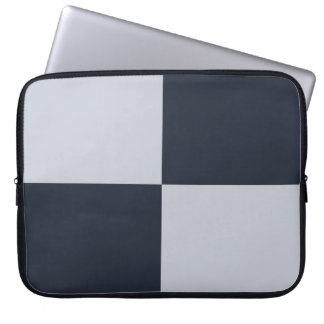 Navy and Grey Rectangles Computer Sleeve