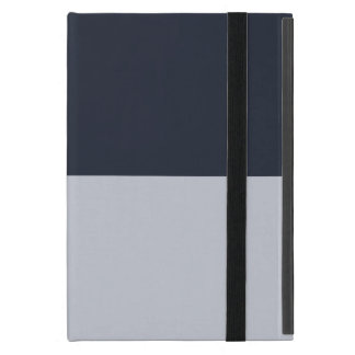 Navy and Grey Rectangles Cover For iPad Mini