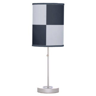 Navy and Grey Rectangles Desk Lamp