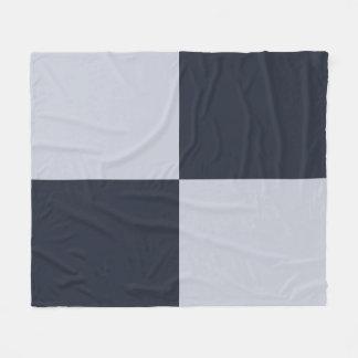 Navy and Grey Rectangles Fleece Blanket