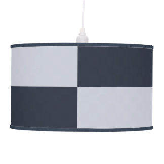 Navy and Grey Rectangles Hanging Lamp