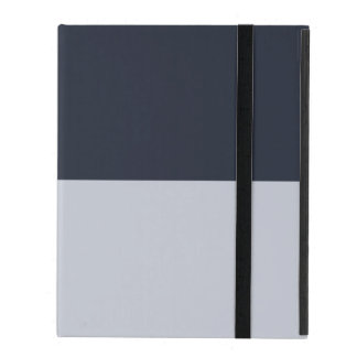 Navy and Grey Rectangles iPad Cover
