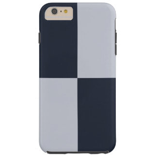 Navy and Grey Rectangles iPhone 6 Plus Tough Case