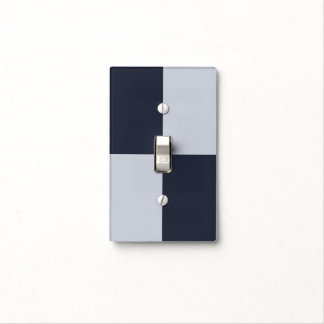Navy and Grey Rectangles Light Switch Cover