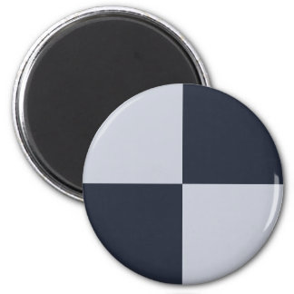 Navy and Grey Rectangles Magnet