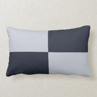 Navy and Grey Rectangles Throw Pillows
