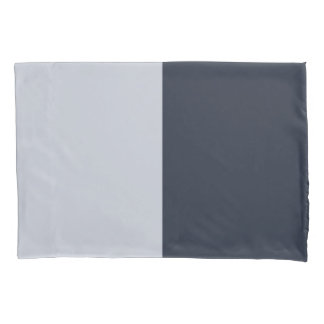 Navy and Grey Rectangles Pillow Case