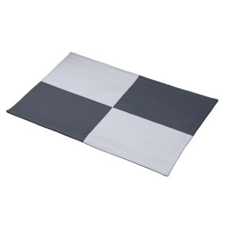 Navy and Grey Rectangles Placemat