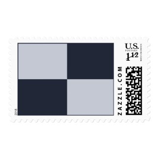 Navy and Grey Rectangles Postage