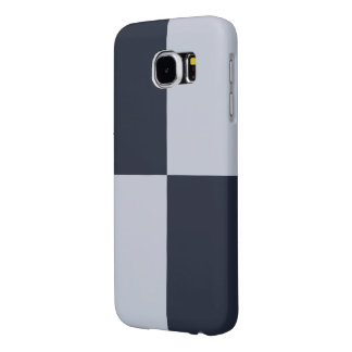 Navy and Grey Rectangles Samsung Galaxy S6 Cases