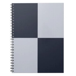 Navy and Grey Rectangles Spiral Notebook