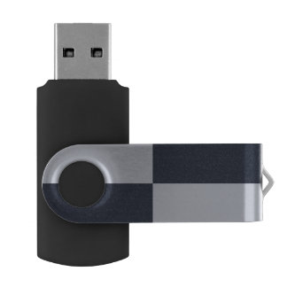 Navy and Grey Rectangles Swivel USB 3.0 Flash Drive