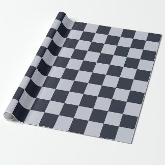 Navy and Grey Rectangles Wrapping Paper