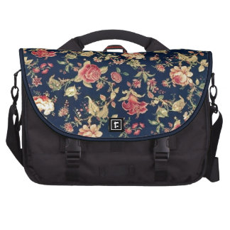 Navy and Ivory Fifties Floral Pattern. Commuter Bags