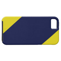 Navy and Maize Striped IPhone 5 Case