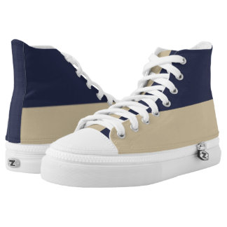 Navy and Pale Gold Two-Tone Hi-Top