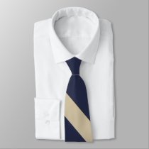 Navy and Pale Gold University Tie