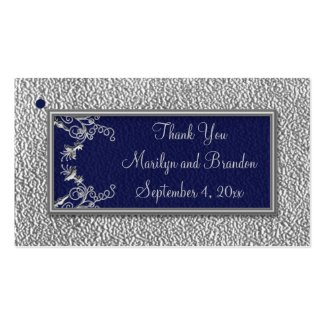 Navy and Pewter Wedding Favor Tags profilecard