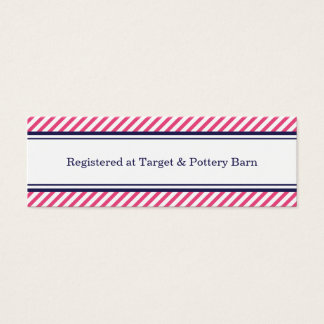 Navy and Pink Nautical Wedding Insert Cards