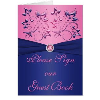 Navy and Pink Table Card card
