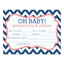 Navy and Red Chevron Predictions & Advice Card