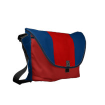 Navy and Red Courier Bag