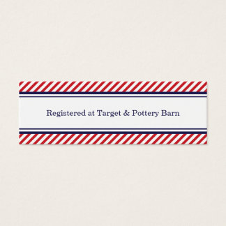 Navy and Red Nautical Wedding Insert Cards