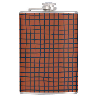 Navy and Rust (XV) Thread Pattern Flask