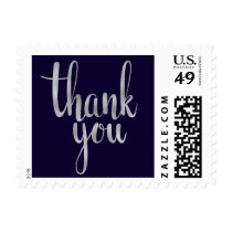Navy and silver thank you stamps