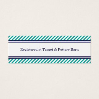 Navy and Teal Nautical Wedding Insert Card