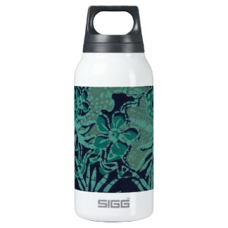 Navy and Turquoise Batik Pattern Thermos Bottle
