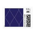 Navy and White Argyle Diamond Pattern Stamp