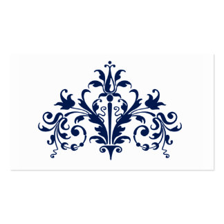 Navy and White Baroque Business Card