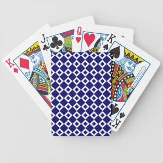 Navy and White Diamond Pattern Bicycle Playing Cards