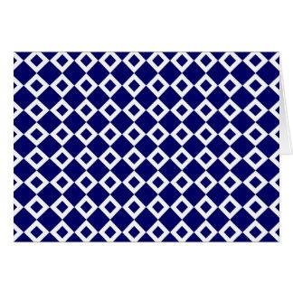 Navy and White Diamond Pattern Card