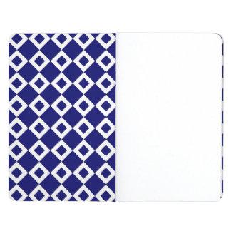 Navy and White Diamond Pattern Journal