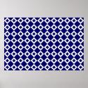 Navy and White Diamond Pattern