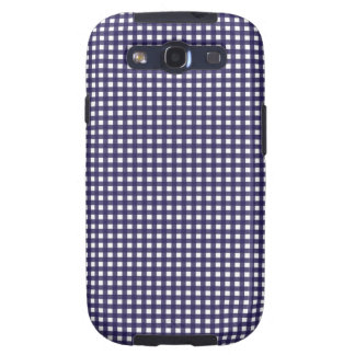 Navy and White Gingham Samsung Galaxy SIII Cover