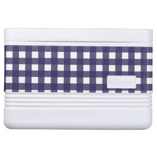 Navy and White Gingham Cooler